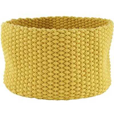 Medium Kneatly Knit Rope Bin (Yellow) - Land of Nod