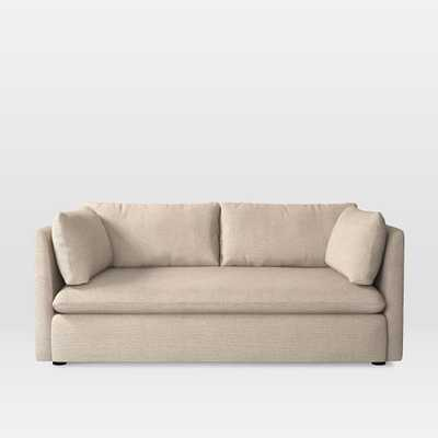 Shelter Loveseat - Pebble Weave, Oatmeal - West Elm
