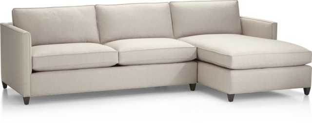 Dryden 2-Piece Sectional - Flax - Crate and Barrel