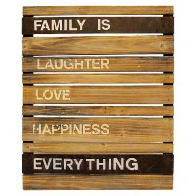 Family is.. Wood and Metal Planks Wall Hanging - Target