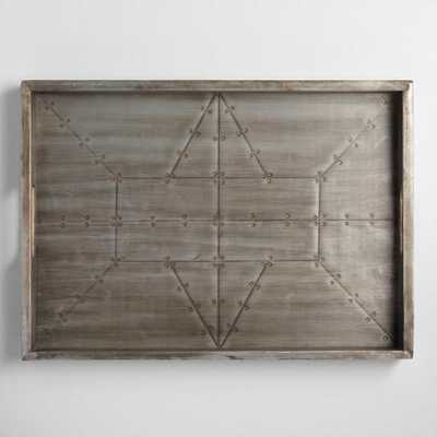 Industrial Wood and Metal Tray - World Market/Cost Plus