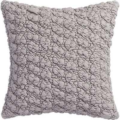 "Gravel light grey 18"" pillow - Cotton fill - CB2"