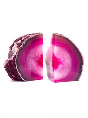 Pink Agate Bookends - Baublebar