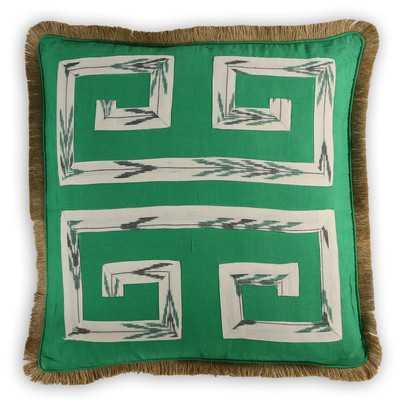 Sheffield Ikat Cotton/Burlap Pillow Cover - Wayfair