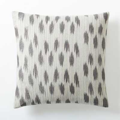 "Metallic Ikat Dot Pillow Cover, Platinum - 20""x20"" -Insert sold separately - West Elm"