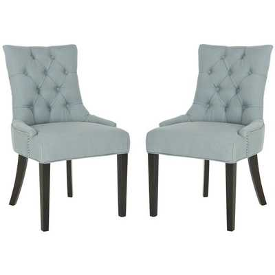 Safavieh Abby Sky Blue Side Chair (Set of 2) - Overstock