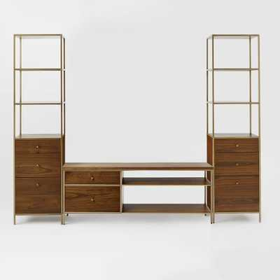 Nook Media Set - Console + 2 Towers - West Elm