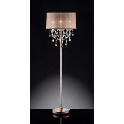 Rosie Crystal 3 Light Floor Lamp - Wayfair