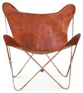 Palermo Butterfly Chair, Cognac/Copper - One Kings Lane