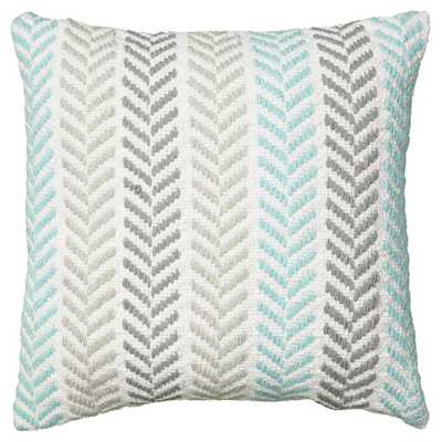 Chevron Cotton Throw Pillow 18''SQ. Insert included - AllModern