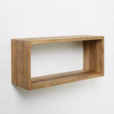 Reclaimed Pine Box Shelf - West Elm