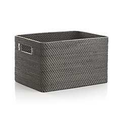 Sedona Small Grey Tote - Crate and Barrel