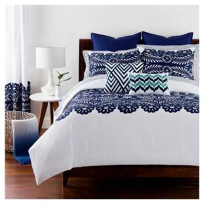 Elena Duvet and Sham Set - Navy - Target