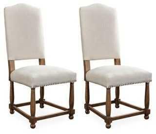 Herringbone Nantucket Side Chairs, Pair - One Kings Lane