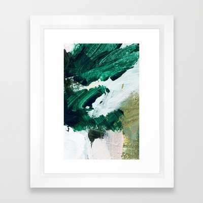 "ART PRINT/ VECTOR WHITE MINI (10"" X 12"")FRAMED - Society6"