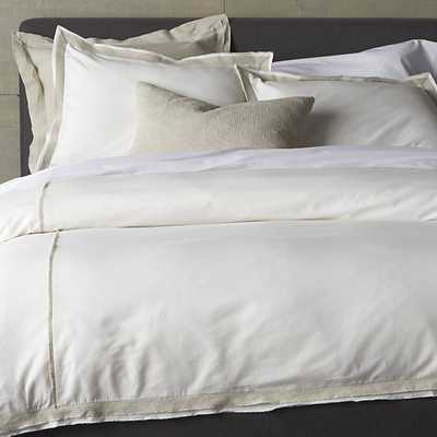 Bianca White/Natural King Duvet Cover - Crate and Barrel