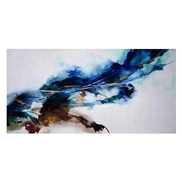 Cerulean Movement - 72''W x 36''H - Unframed - Z Gallerie