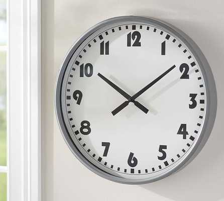 Sophie Modern Colored Wall Clock - Grey - Pottery Barn