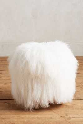 Shag Puff Mini Stool - Anthropologie