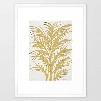 "Gold Palms - 20"" x 26"" - Framed - Society6"