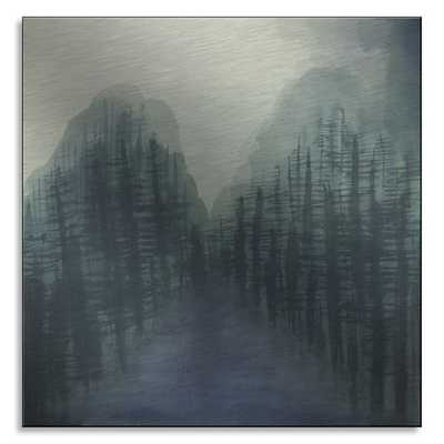Misty Woods Landscape Print - West Elm