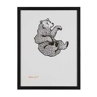 Falling Bear Wall Art - Land of Nod