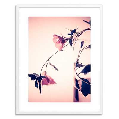 A Quiet Night With Flowers - framed - West Elm