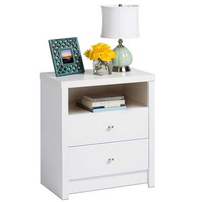 Pure White Nolita Tall 2-drawer Nightstand - Overstock