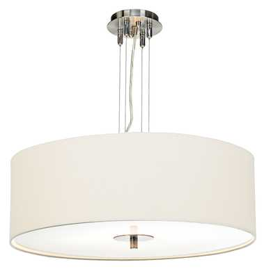 "White Four Light 24"" Wide Pendant Chandelier - Lamps Plus"