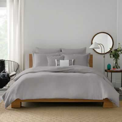 Real Simple® Lattice Full/Queen Duvet Cover in Grey - Bed Bath & Beyond