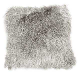 "Tibetan Lamb Pillow-24""- insert, poly fiber - One Kings Lane"