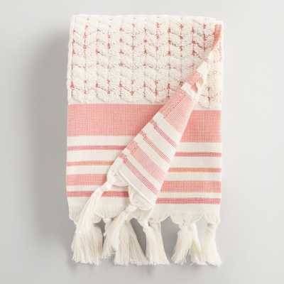 Coral Riley Sculpted Hand Towel - World Market/Cost Plus
