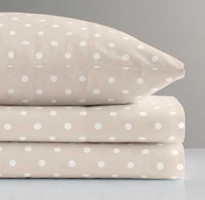 pin dot crib fitted sheet - RH Baby & Child