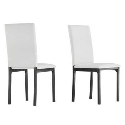 TRIBECCA HOME Darcy Espresso Metal Upholstered Dining Chair (Set of 2) - Overstock