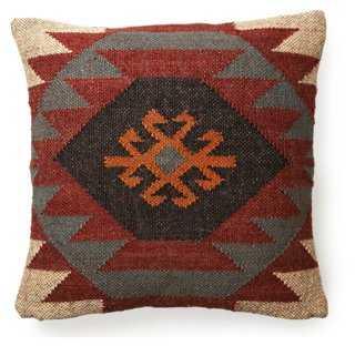 Kilim 20x20 Wool-Blend Pillow, Multi - One Kings Lane