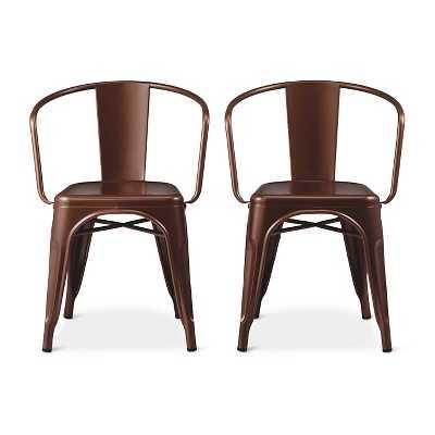 Carlisle Dining Chair Metal (Set of 2) - Copper Brown - Target