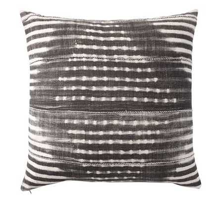 "Diamond Shibori Print Pillow Cover- 24"" sq- Gray- Insert sold separately - Pottery Barn"
