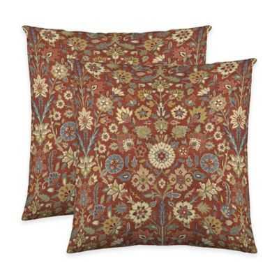 "Colorflyâ""¢ Indira Throw Pillow In Crimson (Set Of 2) - Bed Bath & Beyond"