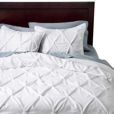 "Thresholdâ""¢ Pinched Pleat Duvet Cover Set - Queen - Target"