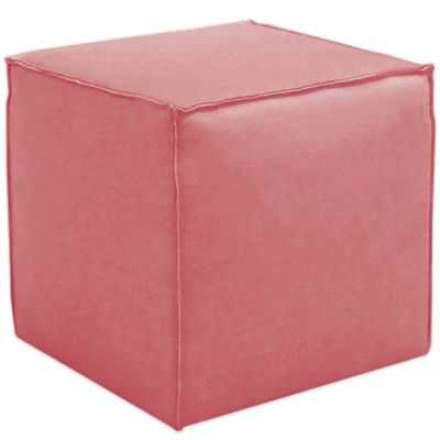 Skyline Furniture French Seam Cocktail Ottoman in Linen Coral - Bed Bath & Beyond