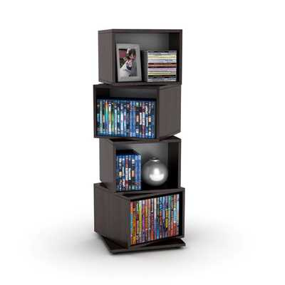 Rotating Cube Media Tower - Overstock
