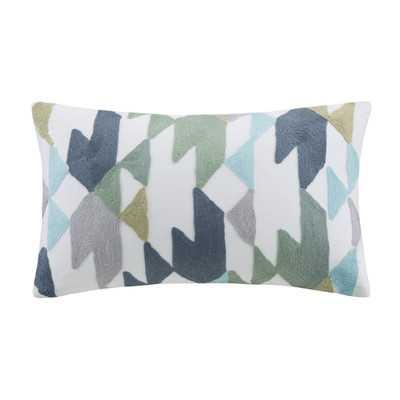 Mcrae Embroidered Cotton Lumbar Pillow - Wayfair