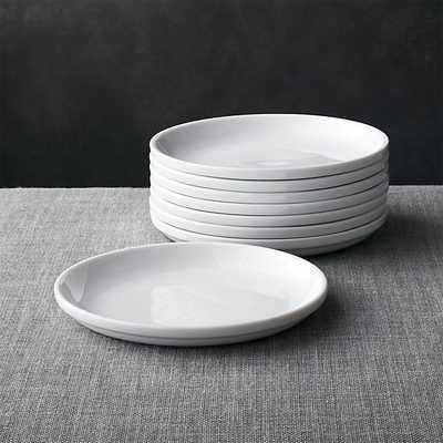 Set of 8 Logan Stacking Salad Plates - Crate and Barrel