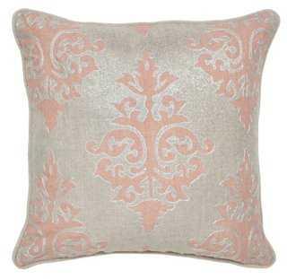 Shimmer 18x18 Cotton Pillow - One Kings Lane