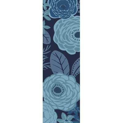 """Aura Blue Indoor/Outdoor Area Rug - 3'3"""" x 5'3"""" - Wayfair"""