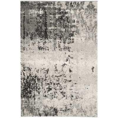 Safavieh Retro Light Grey/ Grey Rug (8'9 x 12') - Overstock
