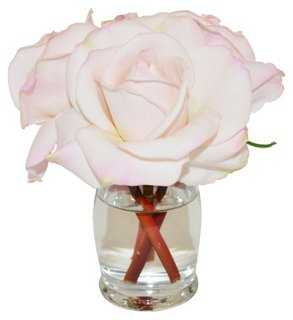 "6"" Rosebuds in Vase, Faux - One Kings Lane"