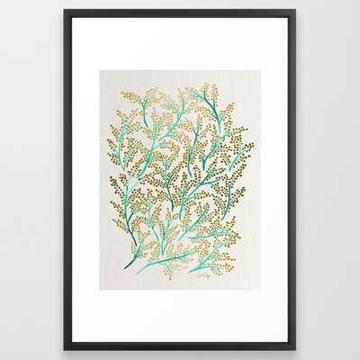 Green & Gold Branches - Society6
