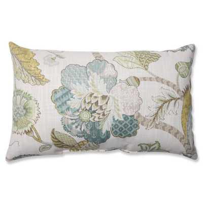 Pillow Perfect Finders Keepers Peacock Throw Pillow - rectangular, blue - Overstock