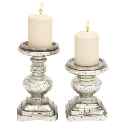 Marseilles 2 Piece Glass Candlestick Setby Lark Manor - Wayfair